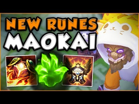 Download Youtube: IS IT EVEN POSSIBLE TO KILL MAOKAI WITH THESE NEW RUNES!?! SEASON 8 MAOKAI TOP - League of Legends