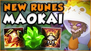 IS IT EVEN POSSIBLE TO KILL MAOKAI WITH THESE NEW RUNES!?! SEASON 8 MAOKAI TOP - League of Legends