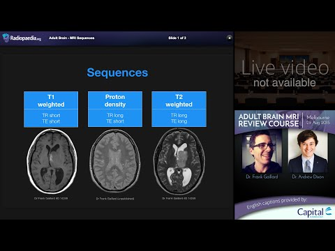 MRI Brain Sequences - radiology video tutorial