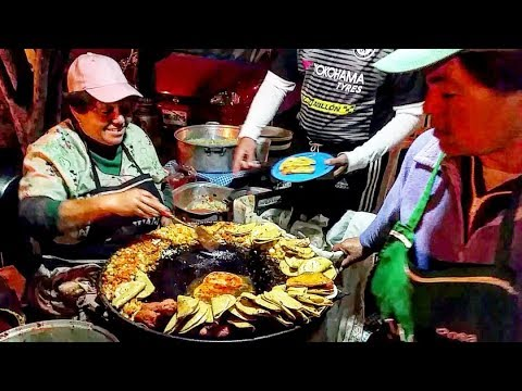 STREET FOOD: Mexican Mind Blowing Fried Tacos and Quesadillas