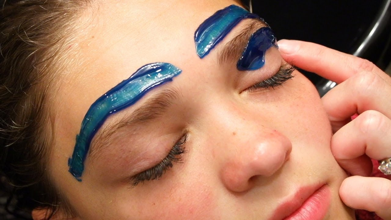 How To Wax Eyebrows Youtube Tutorial Cirepil Blue Wax Youtube