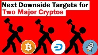 Next Downside Targets for Two Major Cryptos
