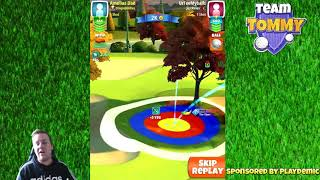 Golf Clash tips, Playthrough, Hole 1-9 - ROOKIE - TOURNAMENT WIND! City of Lights Tournament!