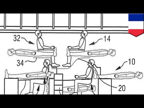 Stacked airplane seating? Airbus files patent for split-level passenger cabin seating - TomoNews