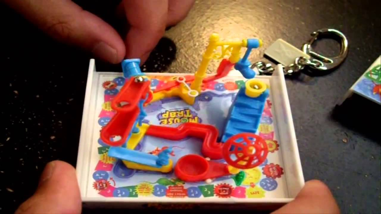 Mini Mouse Trap Board Game Keychain - YouTube f15dcc1d9247