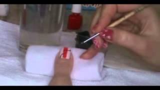 Видео урок № 18. Рисуем абстракцию при помощи акриловых красок и лаков.