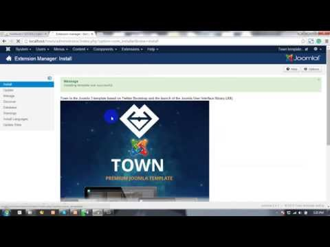 Town Responsive Onepage Parallax Joomla Template Menu Slider Setting