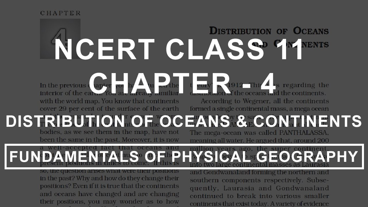 hight resolution of Distribution of Oceans and Continents - Chapter 4 Geography NCERT Class 11  - YouTube