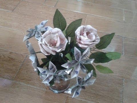 Manualidades como hacer un ramo de flores y rosas de - Como hacer ramos de flores ...