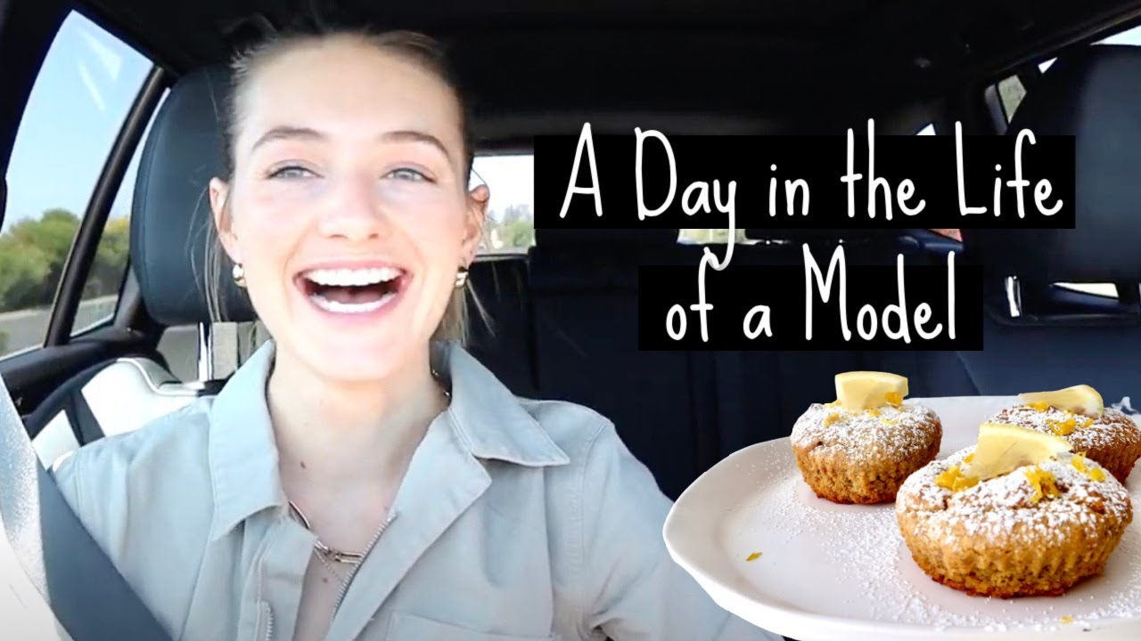 A Day in the Life of a Model + my grocery haul + healthy muffin recipe foodievlog