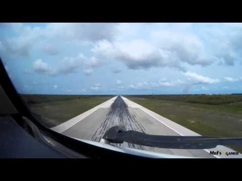 Cockpit View - Boeing 767-300ER landing at Punta Cana Intl. Airport
