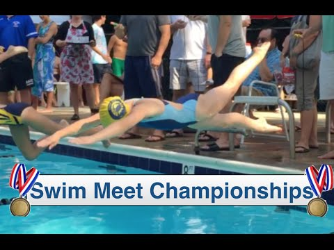 Swim Meet Championships | Katie Sets A Swim Record| Flippin'