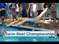 Swim Meet Championships | Katie Sets A Swim Record| Flippin