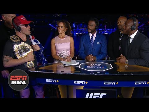 Colby Covington, Kamaru Usman get heated during UFC Fight Night Post Show | ESPN MMA