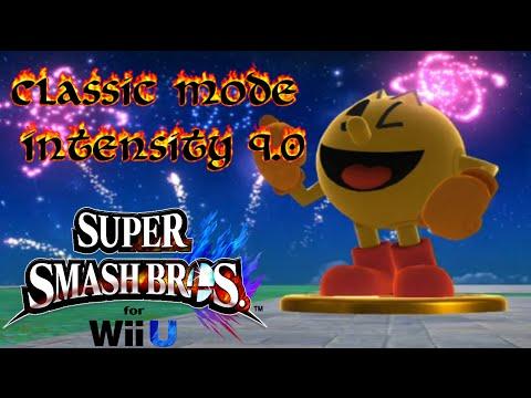 Super Smash Bros For Wii U - Classic Mode | Intensity 9.0 | Pac-Man