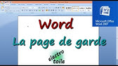 Tutoriel Word 2013 Créer Un Modèle De Page De Garde Youtube
