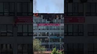В Бишкеке горит бизнес центр