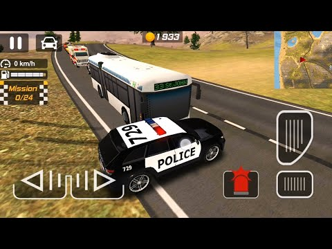 Police Car Driving Simulator - Stopping BUS - Android Gameplay