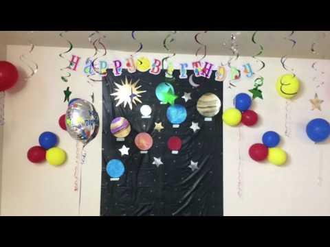 My 3 Year Old Son's Birthday Celebrations