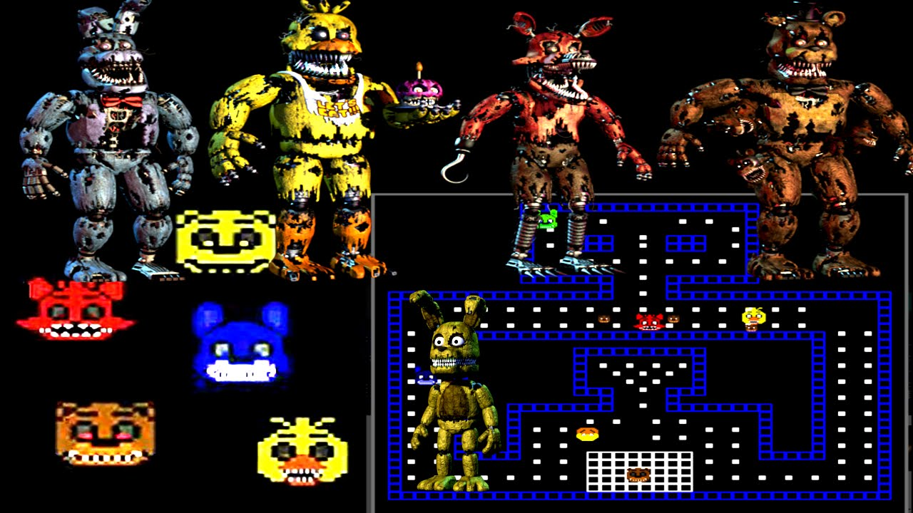 Five Nights at Freddy's 4: Pac Man [Jumpscares] - YouTube