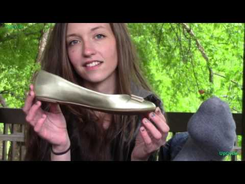 Upcycle: Natalie's Banana Republic gold ballet flats
