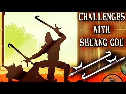 Shadow Fight 2 Special Edition. Completing Challenges with Shuang Gou. Epic Fight for Naginata!