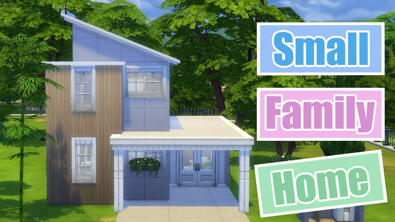 The Sims 4 Small Family Home Speed Build House Building
