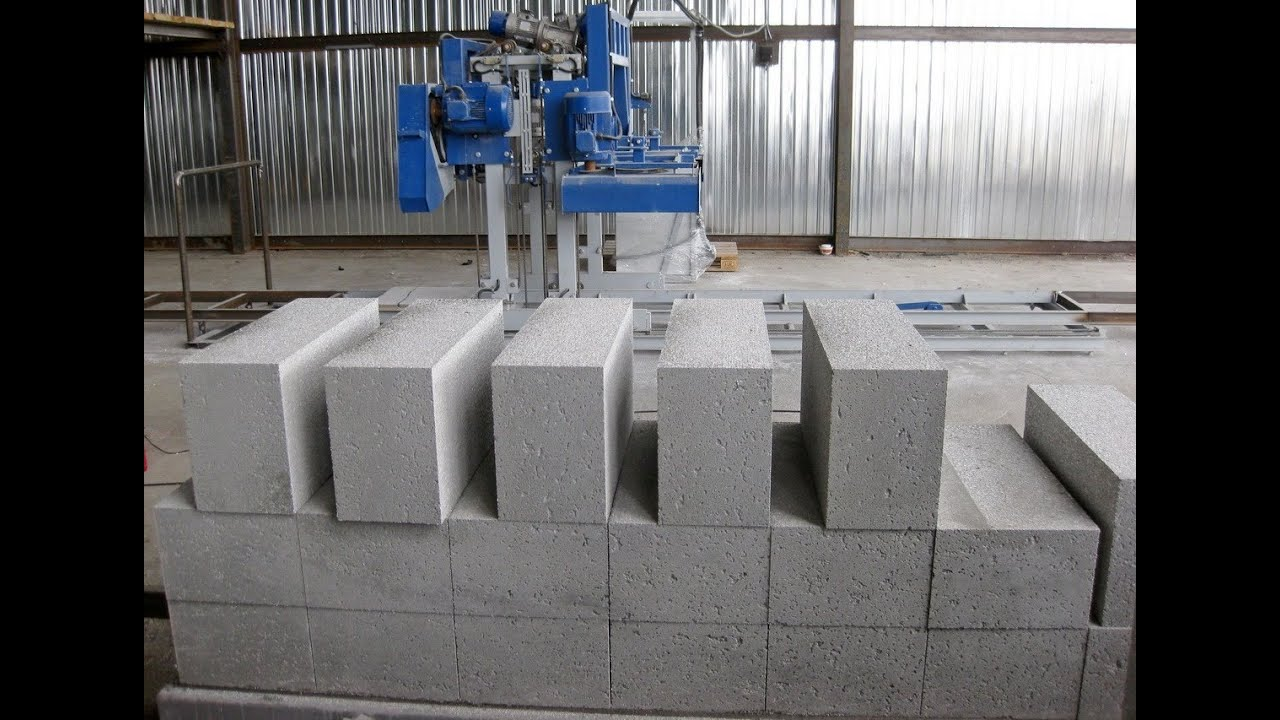 Cellular Concrete House Building For : Clc block automated cutting machine youtube