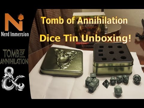 D&D 5e | Tomb of Annihilation Dice Tin Unboxing and Review | Nerd Immerison