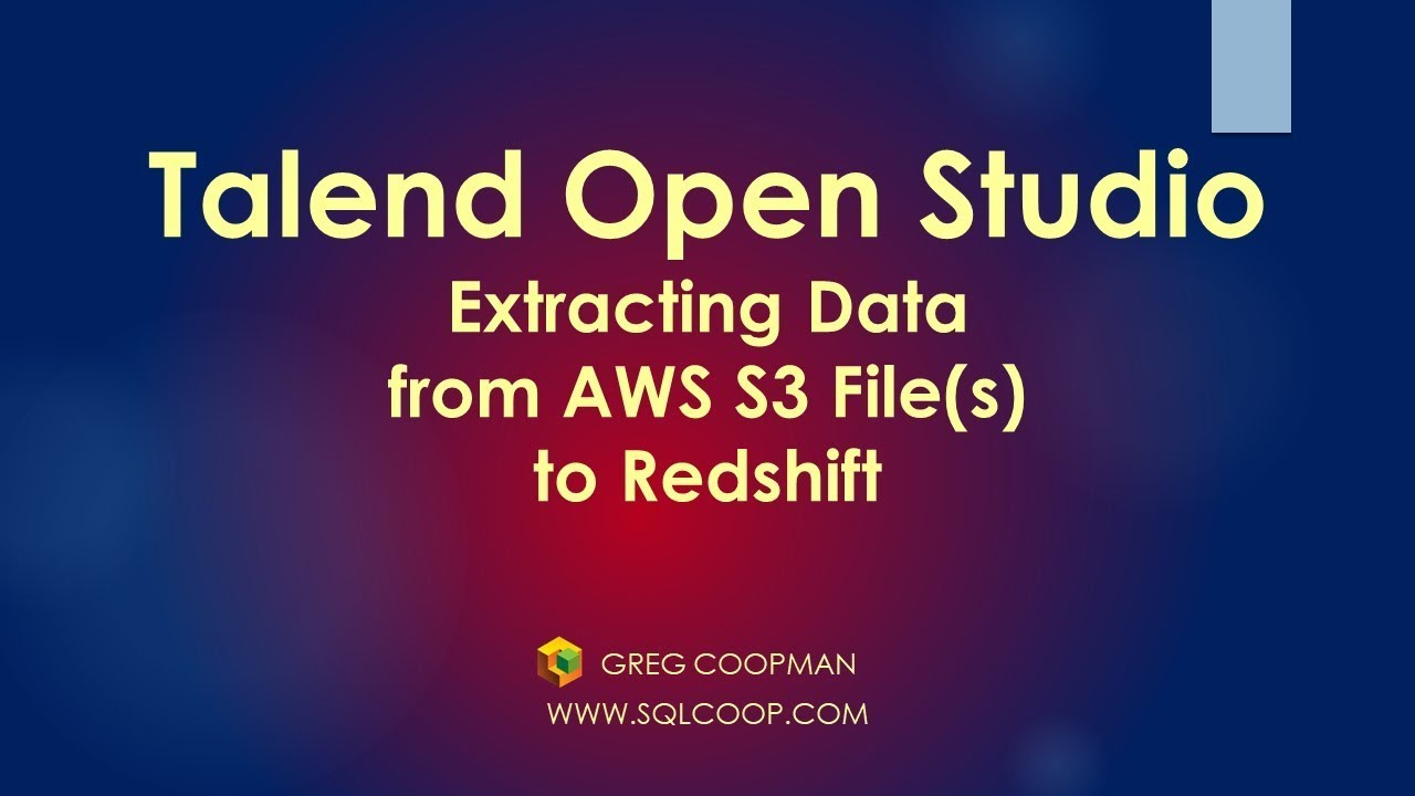 Talend-Extracting Data From S3 Files into a Redshift Table