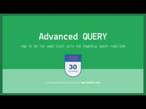 Google Sheets Query function: Learn the most powerful