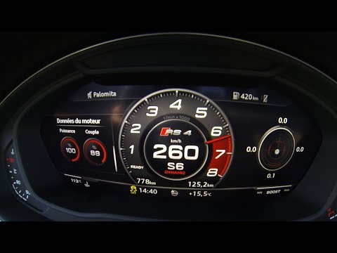 New Audi RS4 (2018) Acceleration 0-260 Top speed