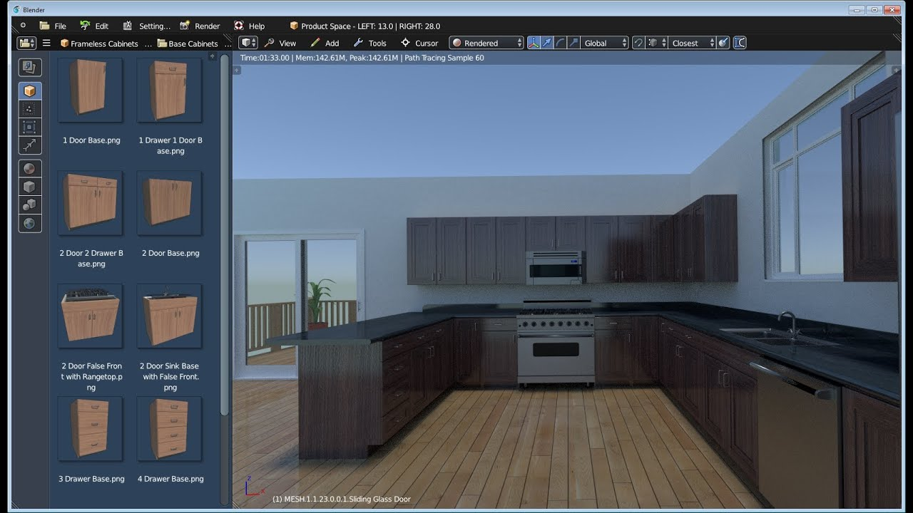 Blender Kitchen Design