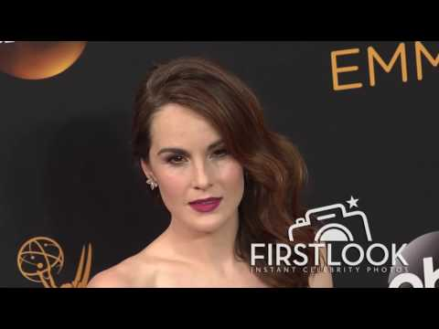 Michelle Dockery arriving at the 2016 EMMY Awards