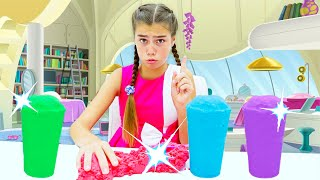 Nastya and Artem pretend play with Kinetic Sand - The best stories for kids