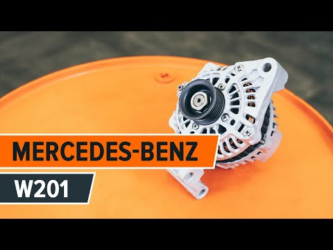 How to replace alternator on MERCEDES-BENZ 190 W201 TUTORIAL | AUTODOC