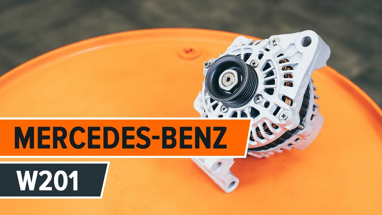How To Replace Alternator On Mercedes Benz 190 W201