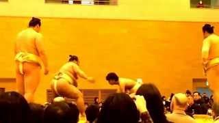 大相撲春巡業 行徳闘牙場所 公開稽古-2015/4/11.