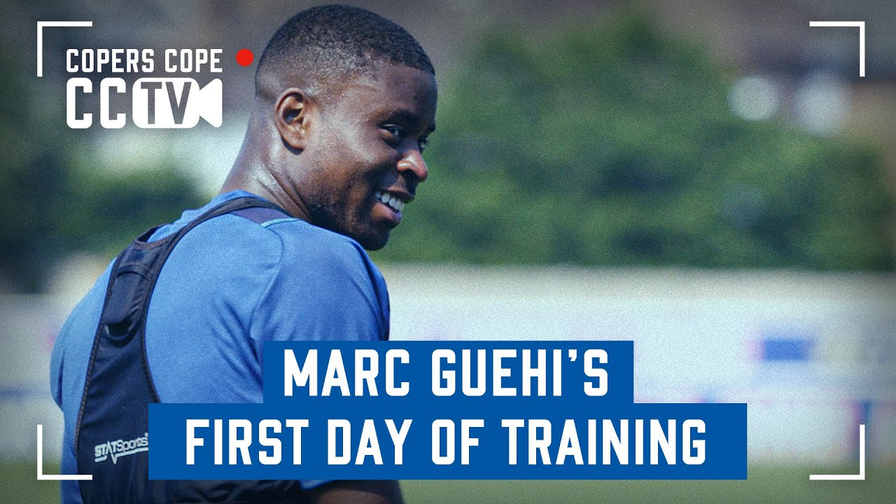 MARC GUEHI BEGINS TRAINING WITH PALACE | CCTV