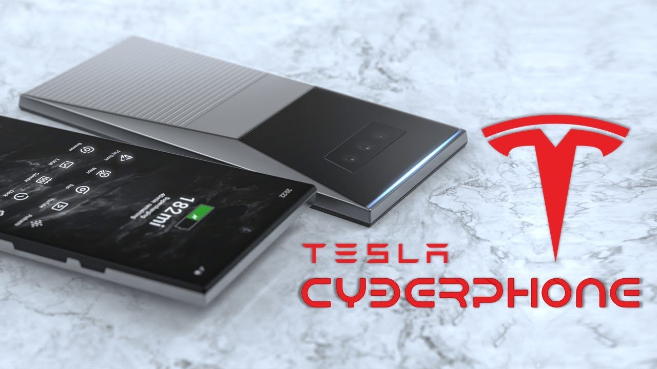 Tesla Cyberphone First Look, Design, Concept | A seven-inch Monster
