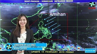Public Weather Forecast Issued at 4:00 AM February 15, 2019