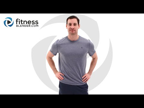 Lower Body HIIT Cardio and Upper Body Strength Workout; Total Body Workout Combo