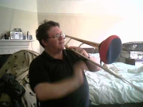 how to make a homemade trombone