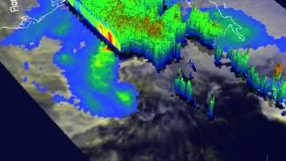 NASA's 3-D TRMM Satellite Animation of Tropical Storm Andrea