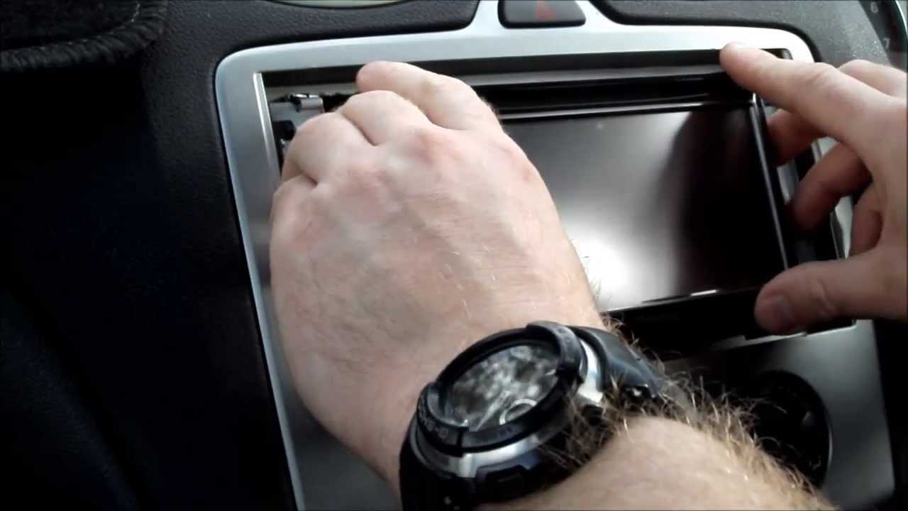 how to remove the original and install a new aftermarket car stereo in a mk 2 ford focus video 2 youtube [ 1280 x 720 Pixel ]