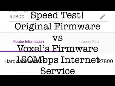 Original vs Custom Firmware Speed Test on The Netgear R7800
