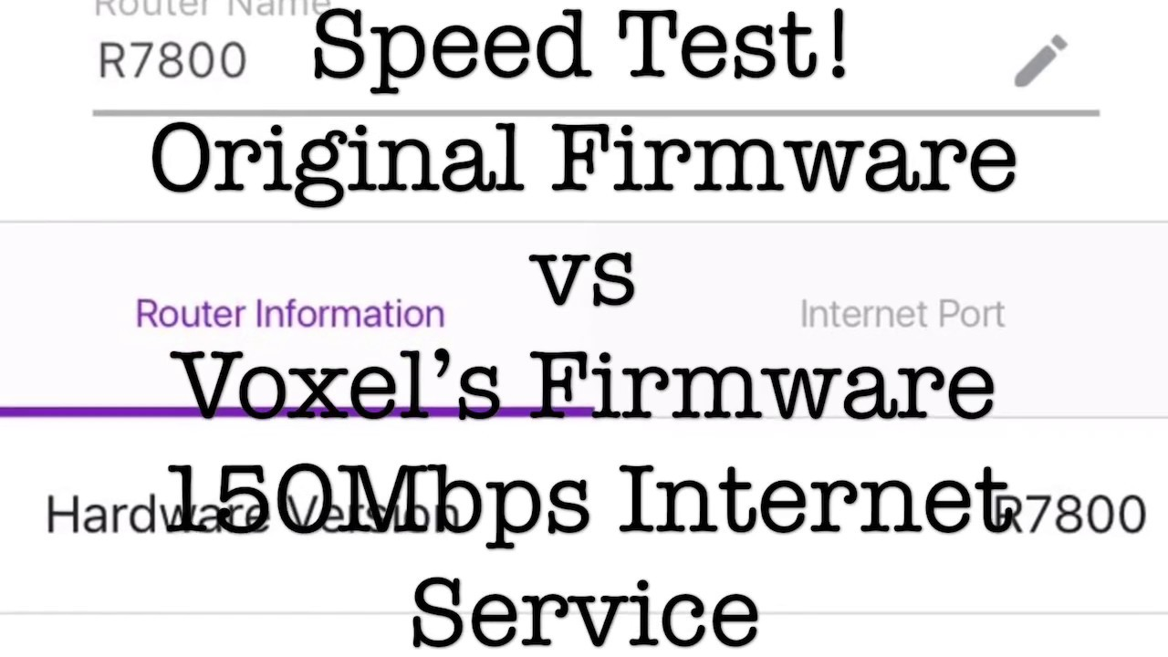 Original vs Custom Firmware Speed Test on The Netgear R7800 4XS Router