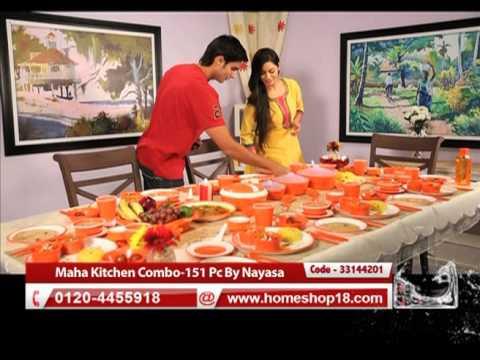 Homeshop18 Com Maha Kitchen Combo 151 Pc By Nayasa Youtube
