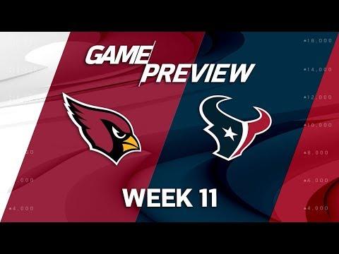 Arizona Cardinals vs. Houston Texans   NFL Week 11 Game Preview