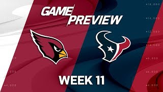 Arizona Cardinals vs. Houston Texans | NFL Week 11 Game Preview